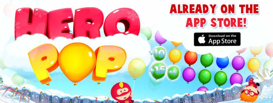 HERO POP – rescue your cloud friends by popping them out of the sky!